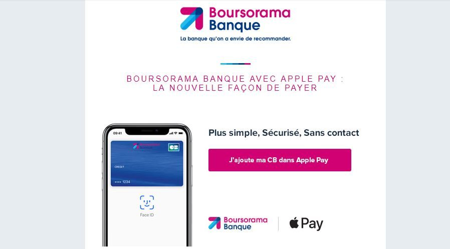 Apple Pay et Boursorama Banque